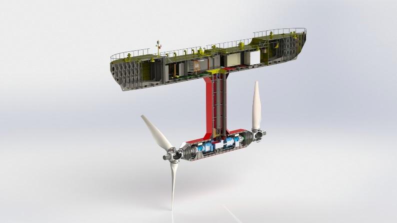 Máquina de energía marina