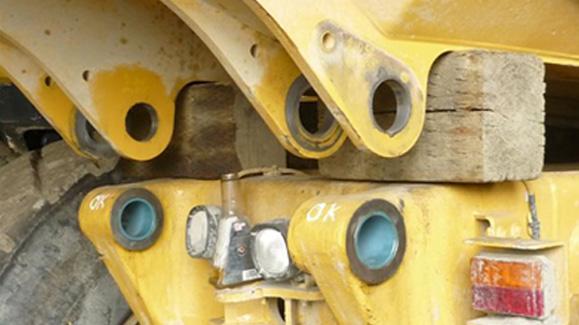 Imagen de unos cojinetes en el sector industrial