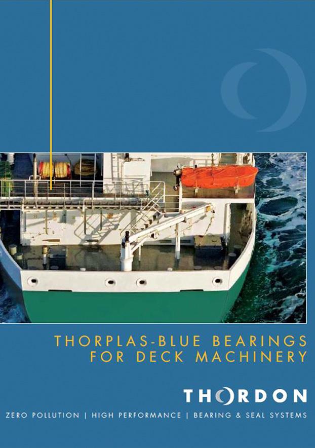 Catálogo en inglés de ThorPlas azul para equipo de cubierta