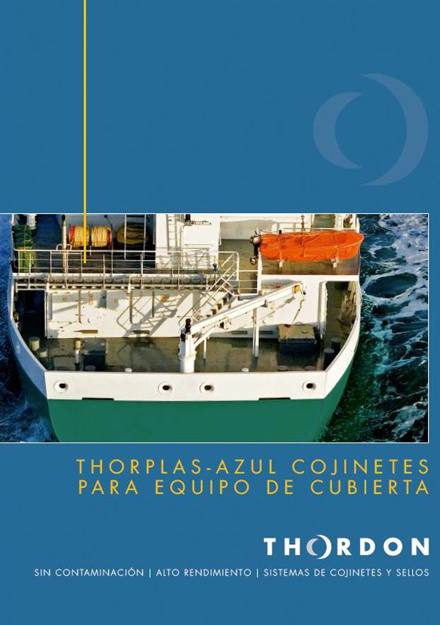 Catálogo en español de ThorPlas azul para equipo de cubierta