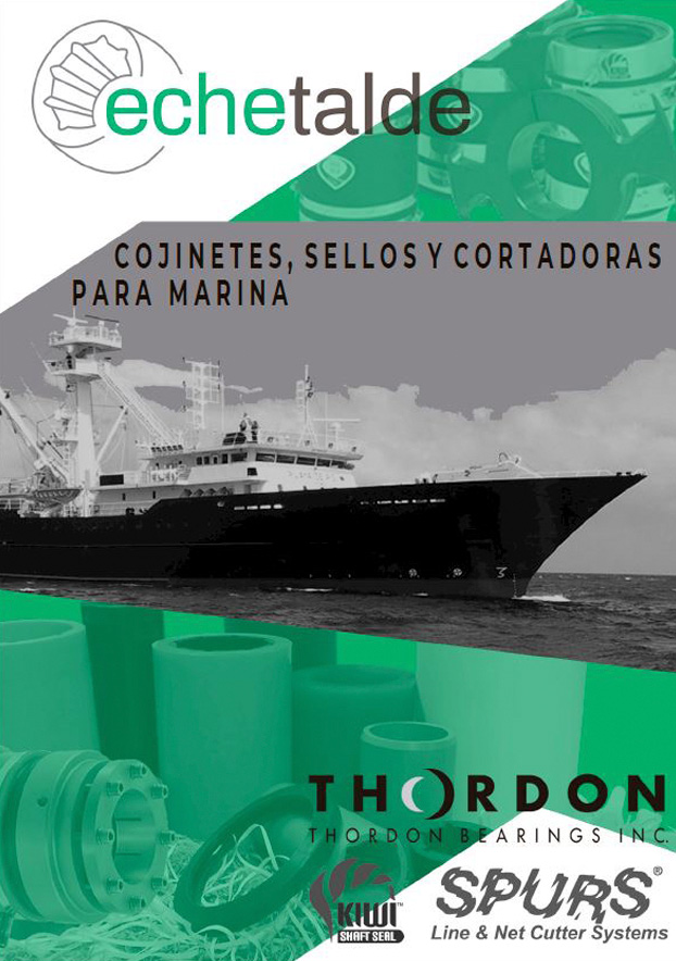 Marine sector products brochure in Spanish