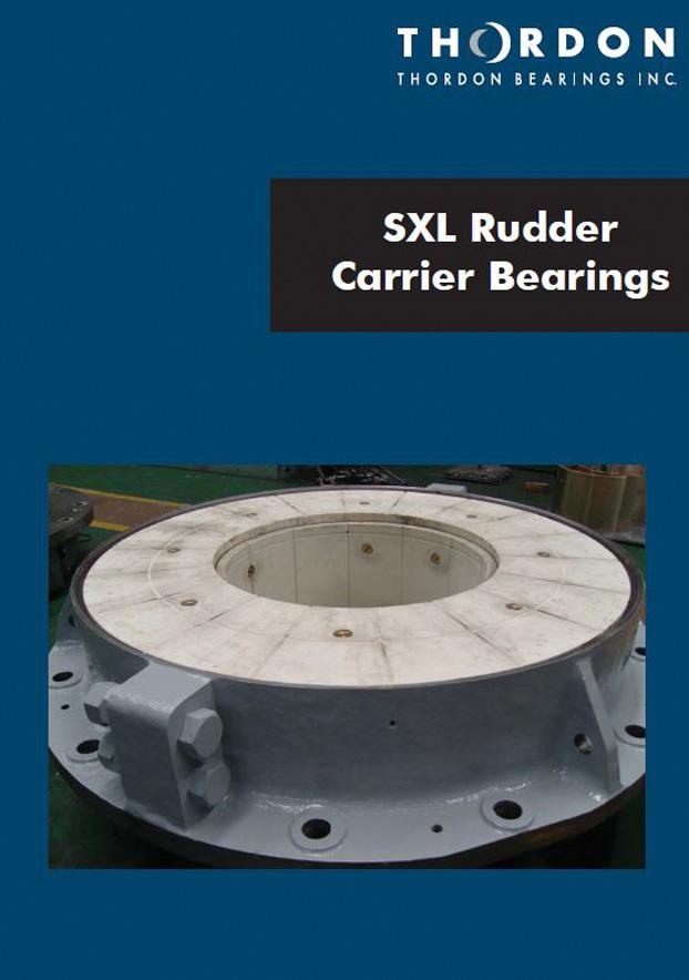Folleto en inglés sobre cojinetes SXL de soporte para timón