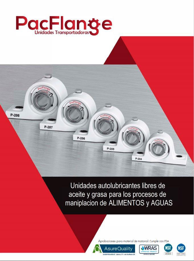 Catálogo con las características de las unidades transportadoras en castellano