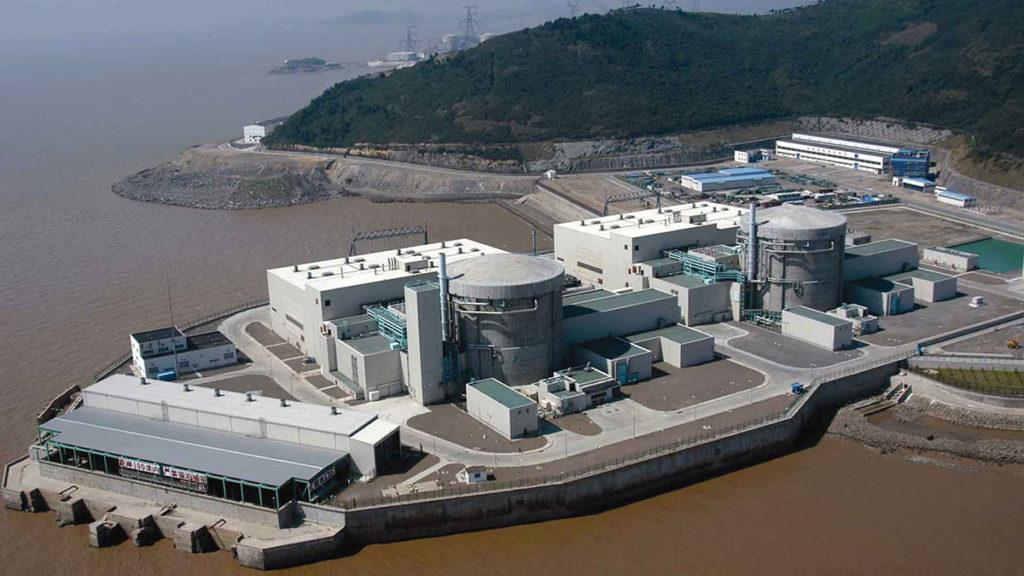 Vista aérea central nuclear